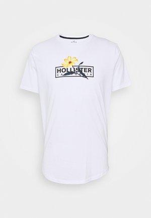 FLORAL PRINT LOGO  - Print T-shirt - white
