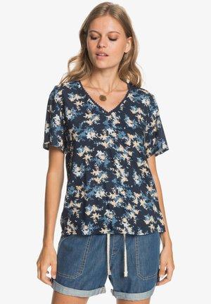 HEY NOW - Print T-shirt - mood indigo aqua ditsy