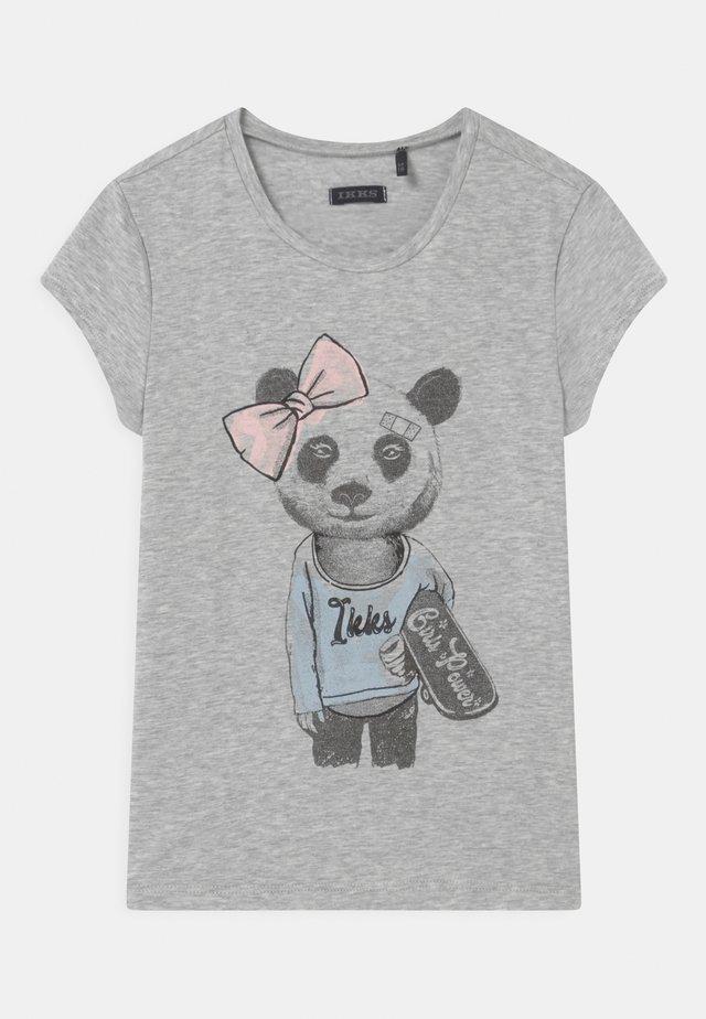 T-shirts med print - gris