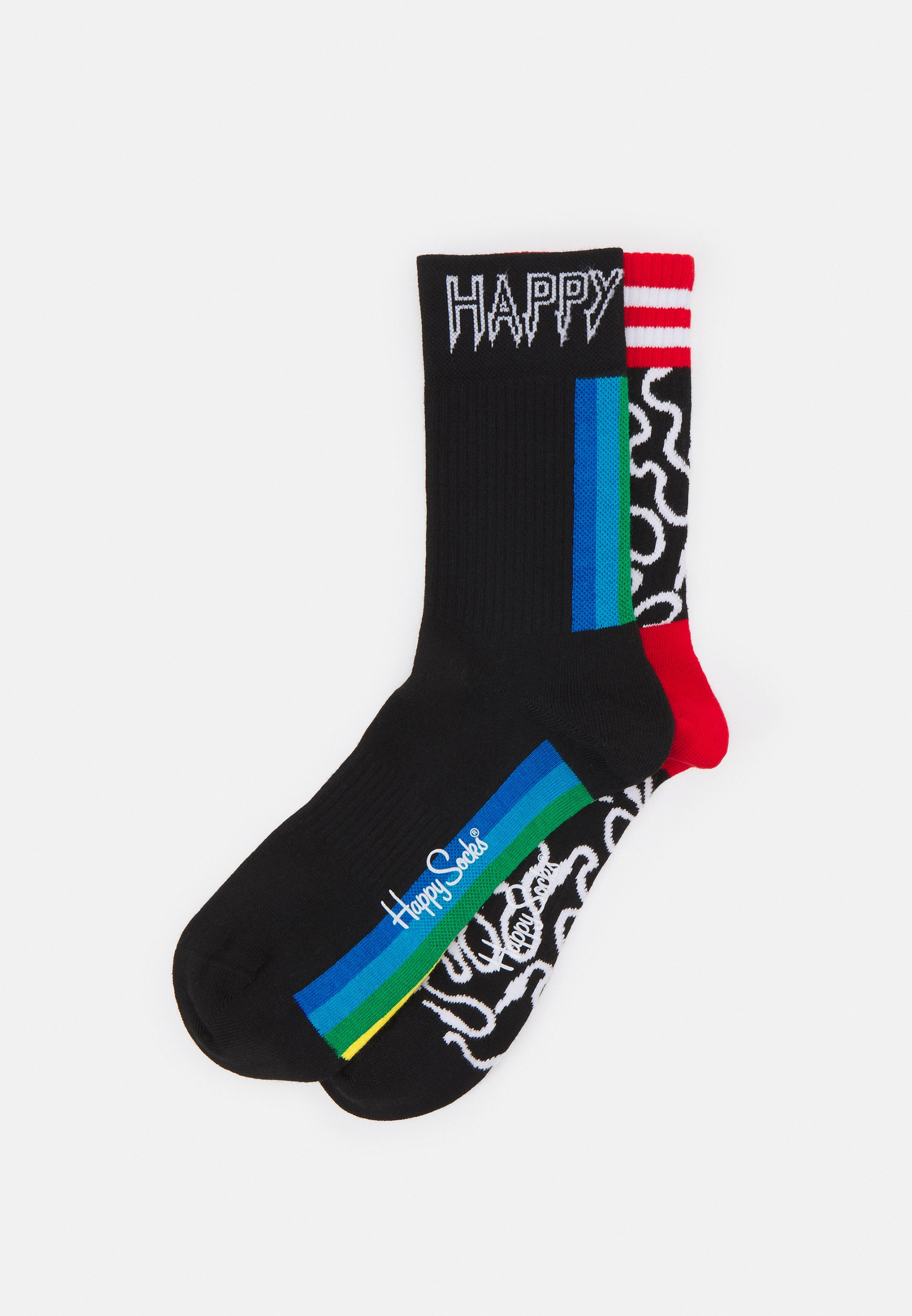 Women WIRE 3/4 CREW SOCK COLOUR STRIPE 3/4 CREW SOCK UNISEX 2 PACK - Socks
