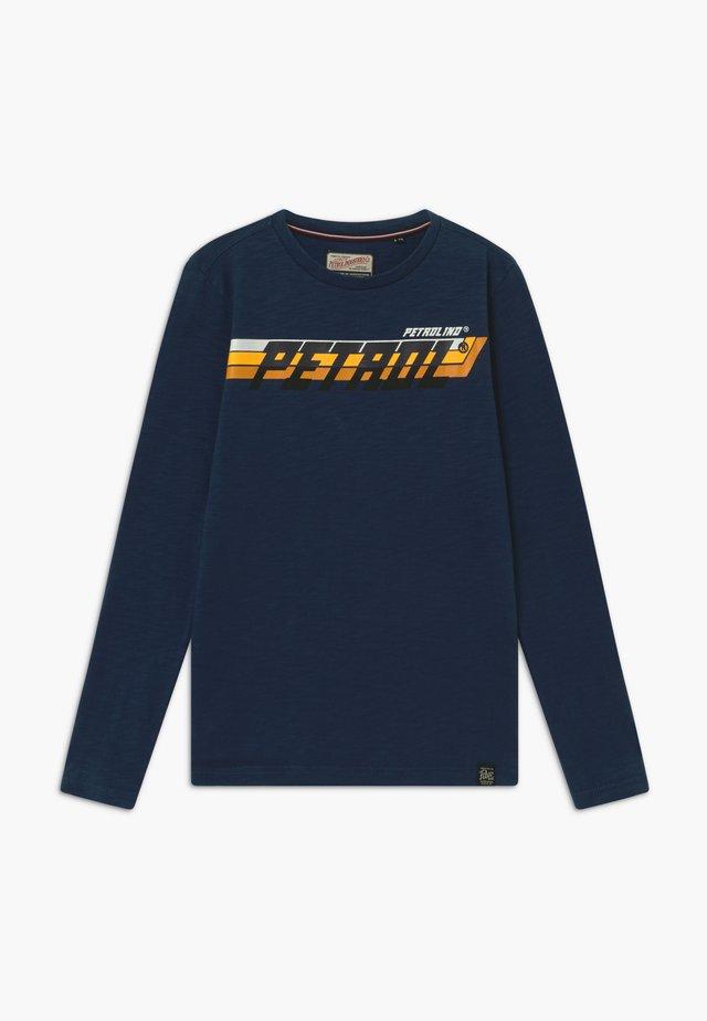 Long sleeved top - petrol blue