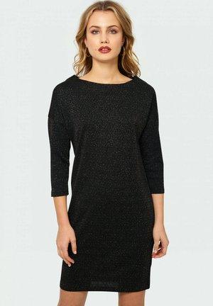 Sukienka etui - shiny black