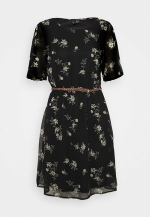 VMFALLIE BELT DRESS - Vestito estivo - black/exotic hallie
