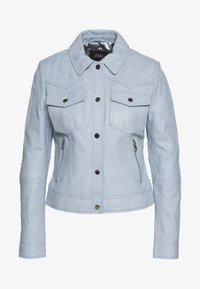 Ibana - JESSY - Leather jacket - ice blue - 0