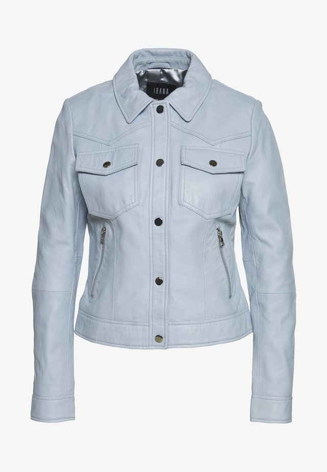 JESSY - Leather jacket - ice blue