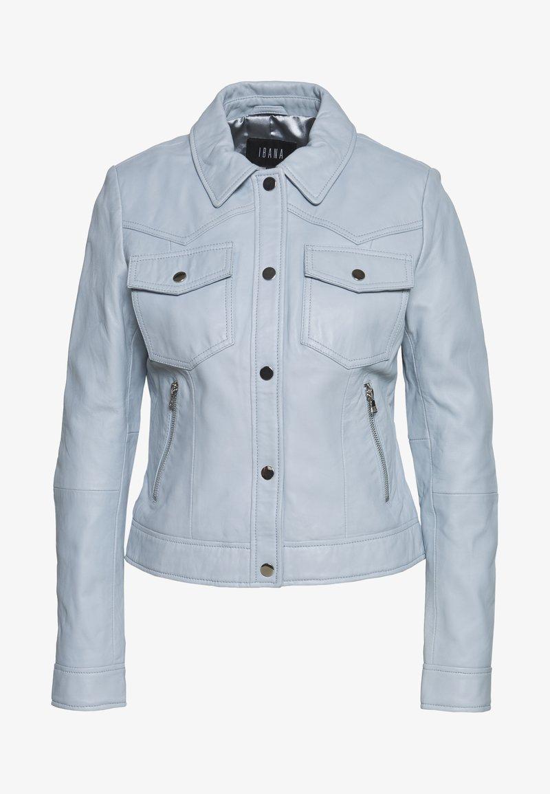 Ibana - JESSY - Leather jacket - ice blue