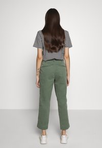 GAP Petite - HIGH RISE STRAIGHT - Trousers - olive - 2