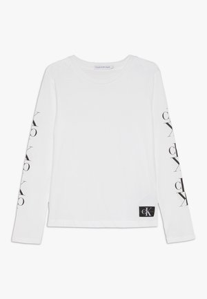 MIRROR MONOGRAM  - Longsleeve - white
