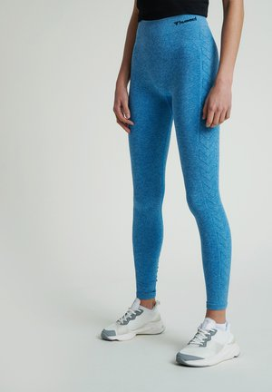 HMLCI  - Leggings - mykonos blue melange