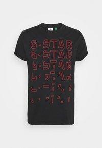 EMBRO GRADIENT GRAPHIC LASH - Camiseta estampada - black