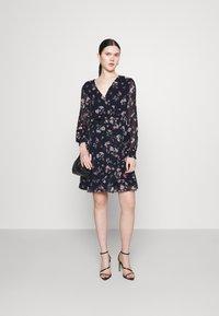 Vero Moda - VMZALLIE WRAP DRESS - Day dress - navy blazer/zallie - 1