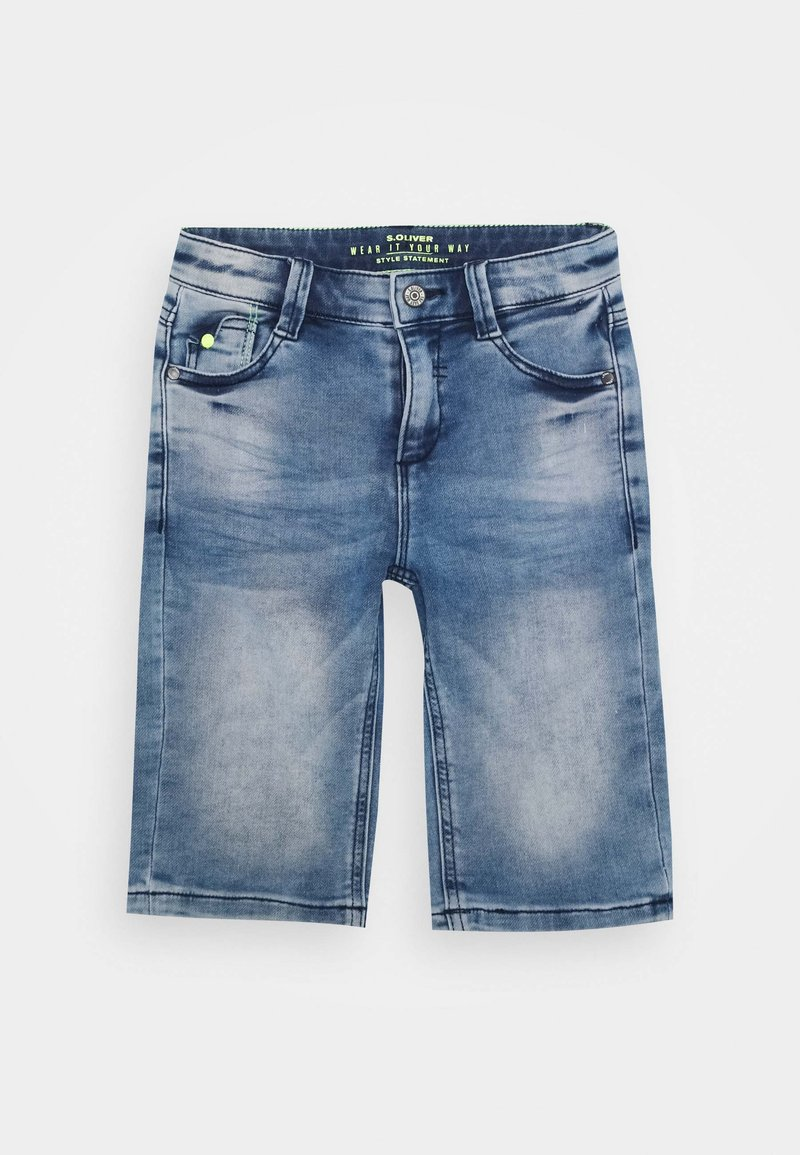 s.Oliver - Shorts vaqueros - blue denim