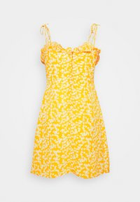 Glamorous - CARE PRINTED MINI DRESS WITH SHOULDER TIE DETAIL - Kjole - yellow - 5