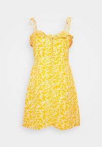 Glamorous - CARE PRINTED MINI DRESS WITH SHOULDER TIE DETAIL - Hverdagskjoler - yellow - 5