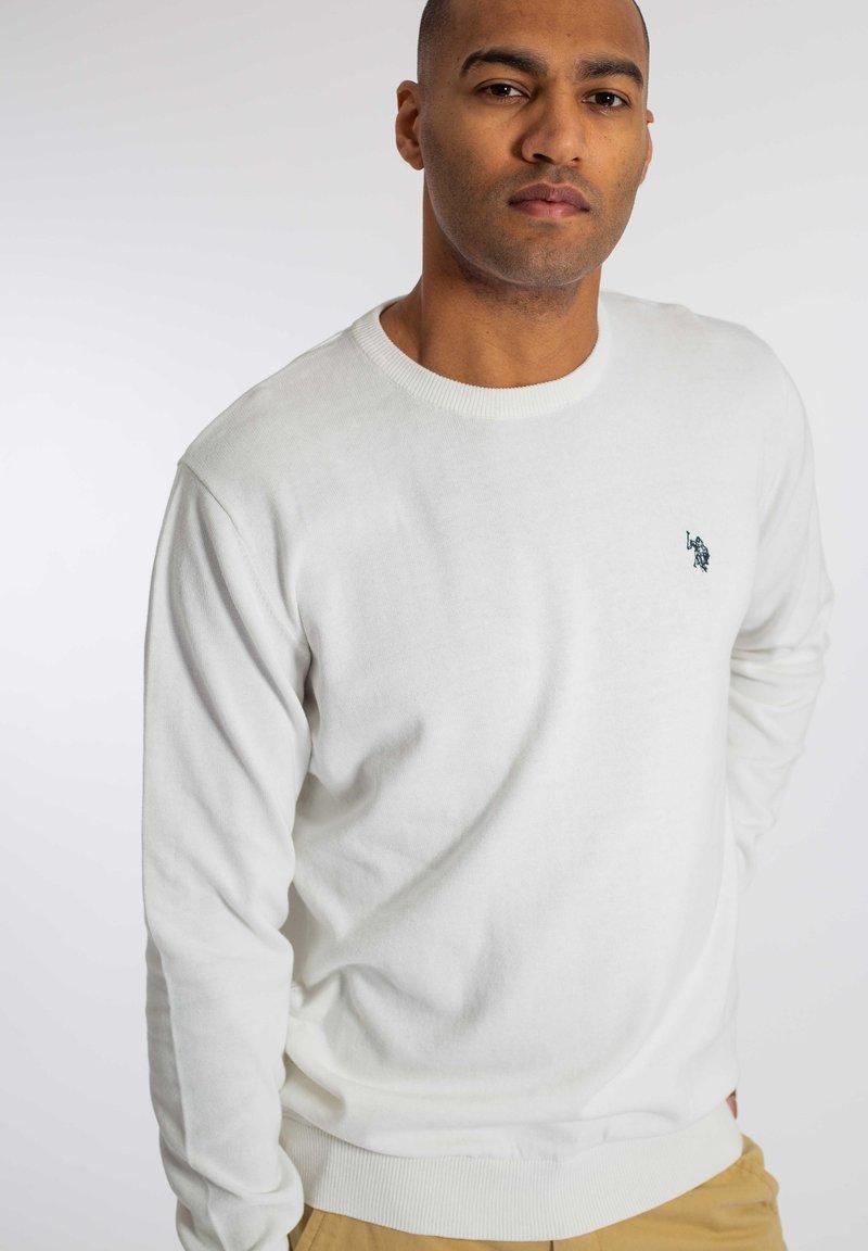 U.S. Polo Assn. - ADAIR - Stickad tröja - snow white