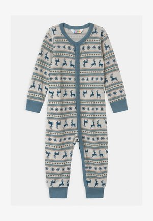 JUMPSUIT UNISEX - Pyjamas - light blue/off-white