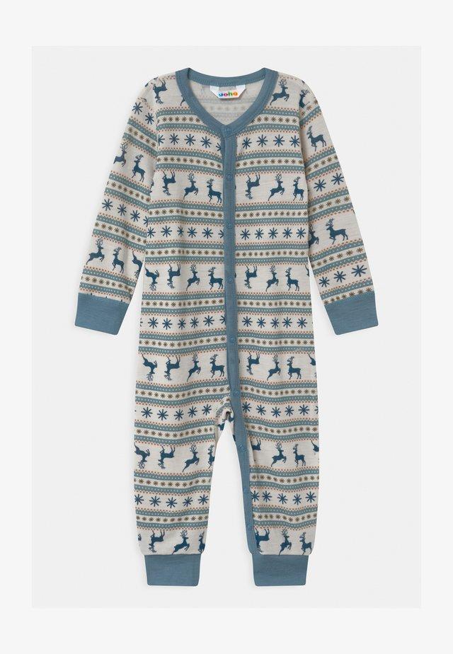 JUMPSUIT UNISEX - Pyjama - light blue/off-white