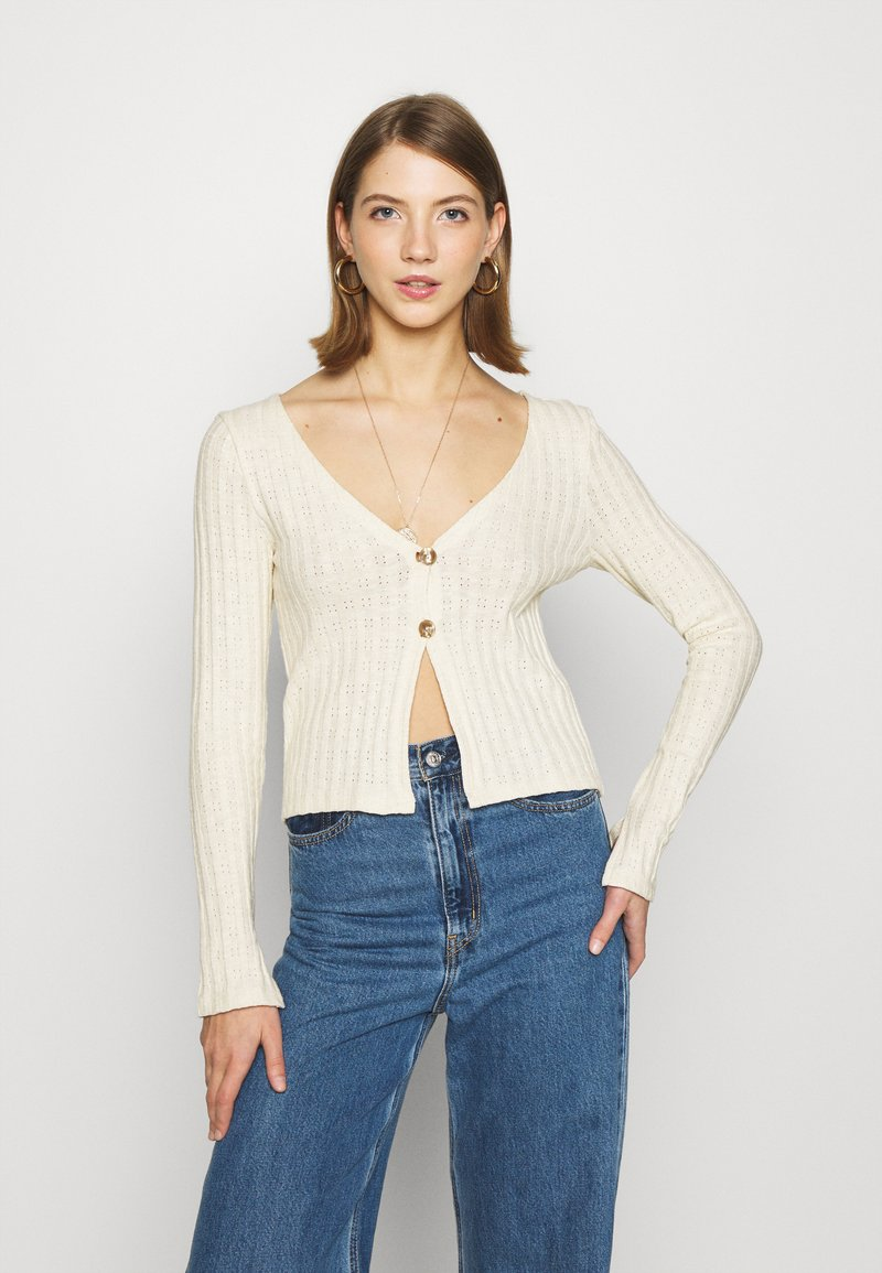 Nly by Nelly - BUTTON DOWN CARDIGAN - Cardigan - creme