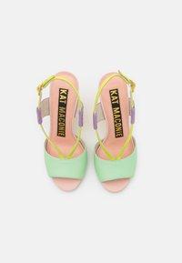 Kat Maconie - HALLE - Sandaler med høye hæler - spearmint/crystal pink - 5