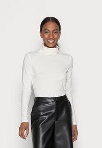 Esprit - LONGSLEEVE ROLLNECK - Long sleeved top - off white - 0