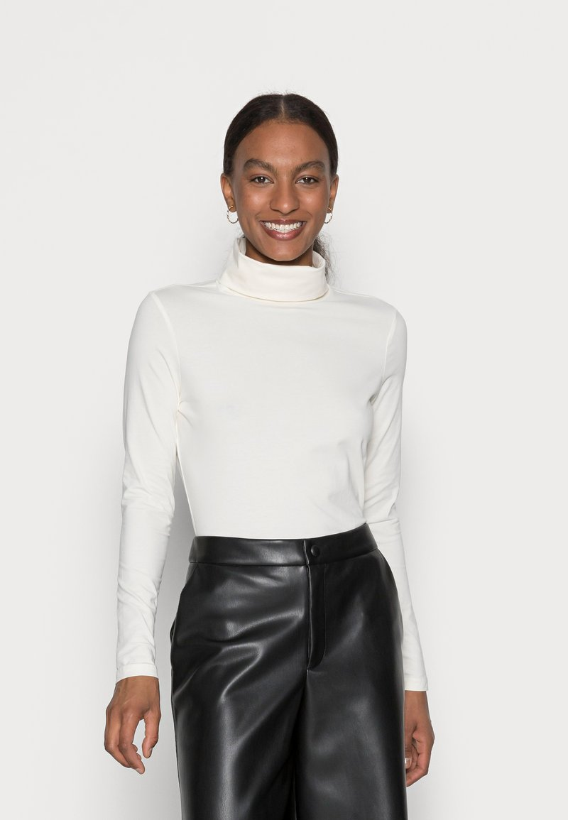 Esprit - LONGSLEEVE ROLLNECK - Long sleeved top - off white