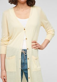 s.Oliver - Cardigan - light yellow - 3