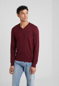 Polo Ralph Lauren - LONG SLEEVE - Sweter - classic wine heather - 0