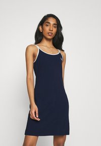 Fila - HOPE SPAGHETTI STRAP DRESS - Jersey dress - black iris - 0