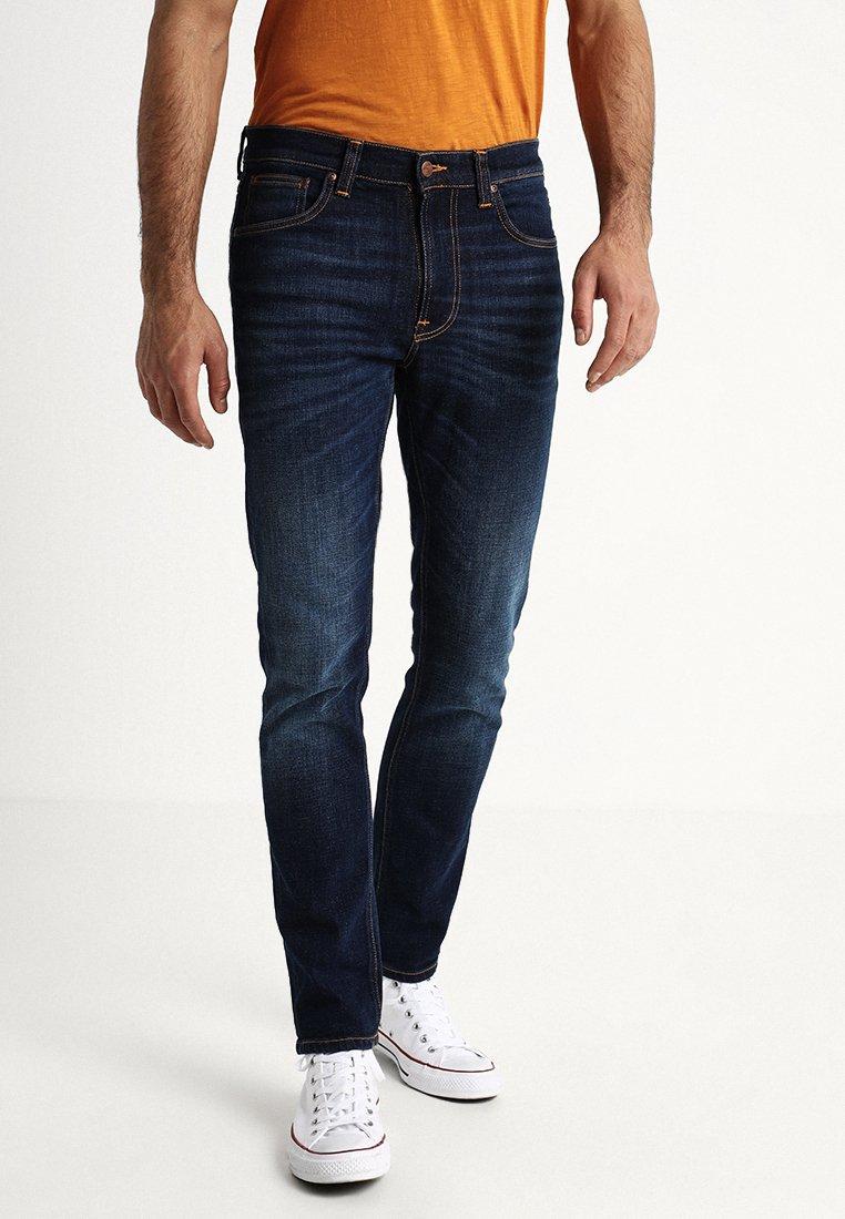 Nudie Jeans - LEAN DEAN - Jeans slim fit - dark deep worn