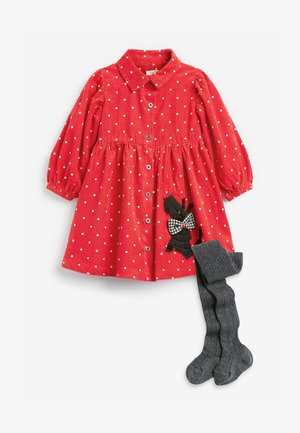 APPLIQUÉ DOG - Day dress - red