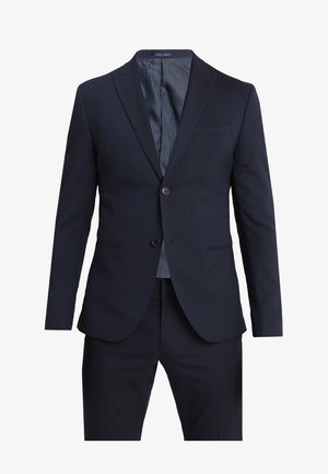 BASIC PLAIN SUIT SLIM FIT - Kostym - navy