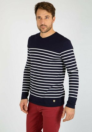 PORT-LOUIS MARINIÈRE - T-shirt à manches longues - navire/blanc