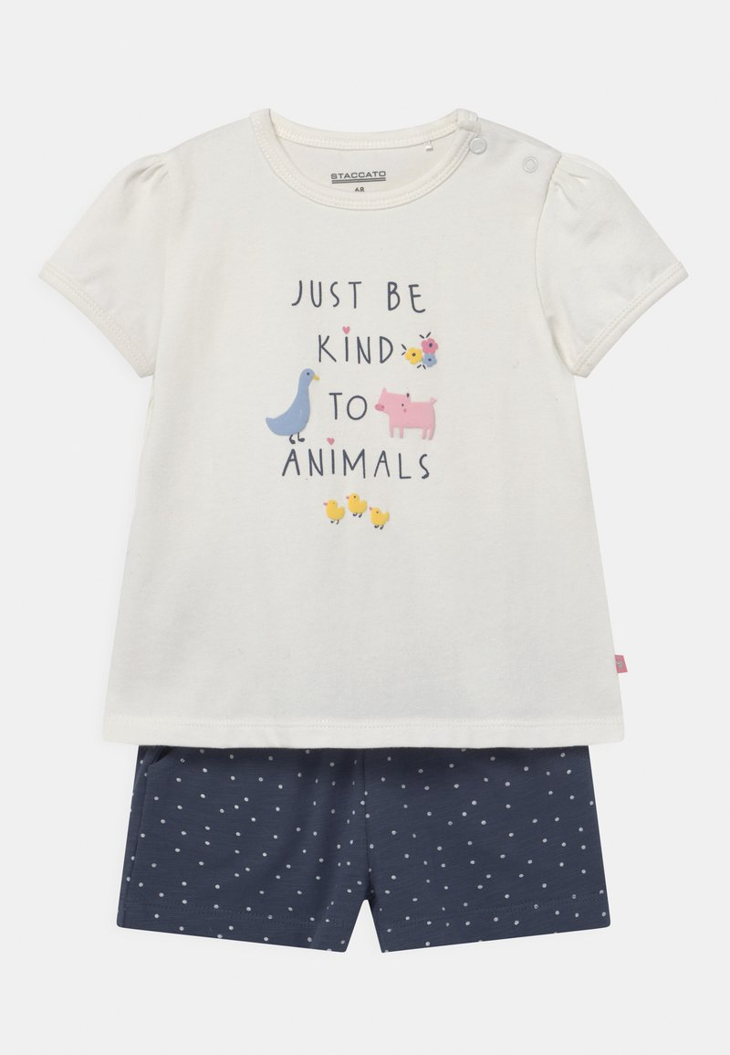 Staccato - SET - Print T-shirt - off-white/dark blue