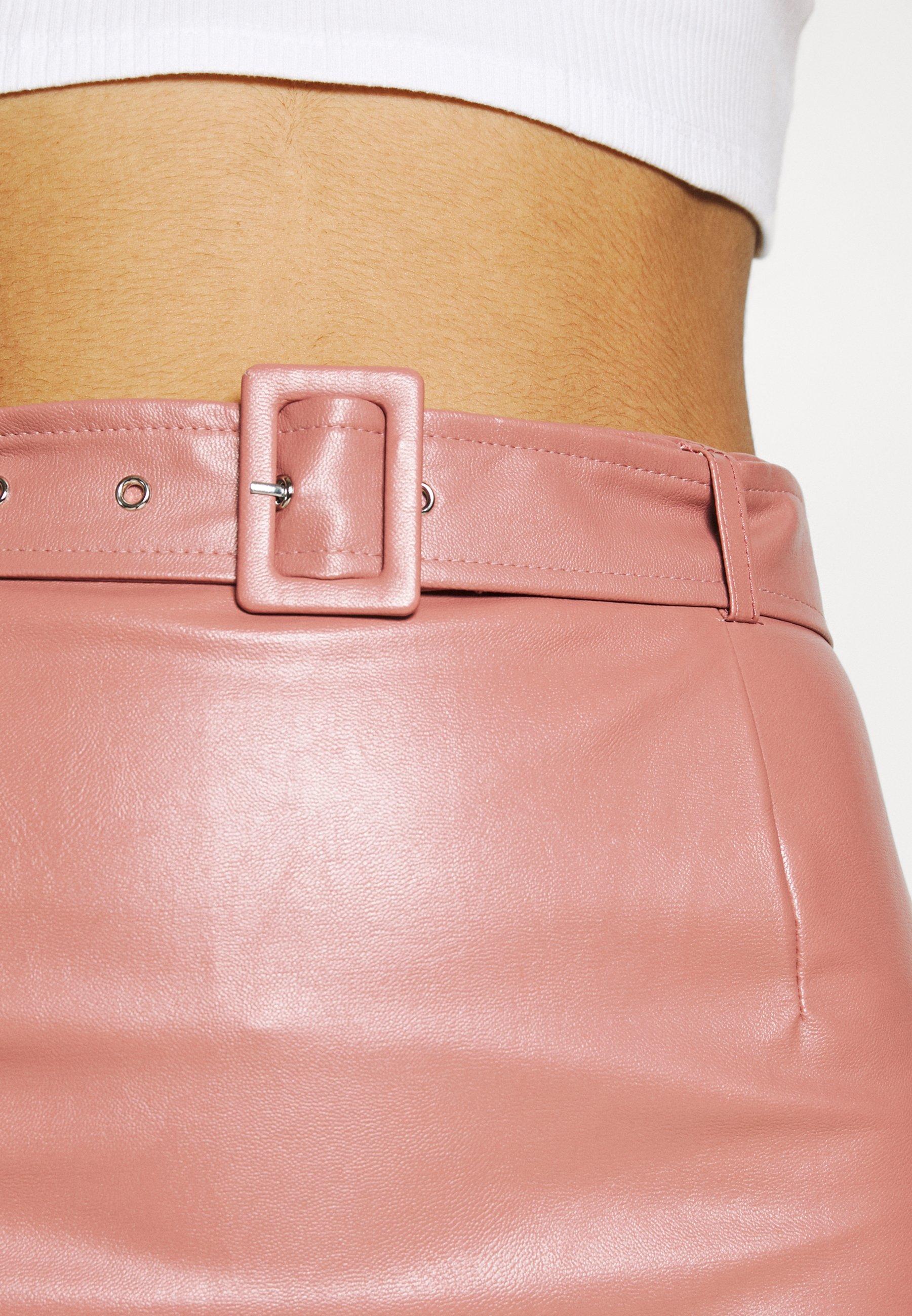 Femme BELTED POCKET DETAIL MINI SKIRT - Minijupe