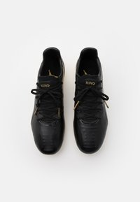 Puma - KING PLATINUM FG/AG - Moulded stud football boots - black/team gold - 3