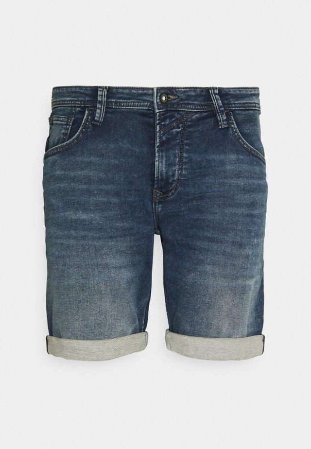 Shorts di jeans - used mid stone blue denim