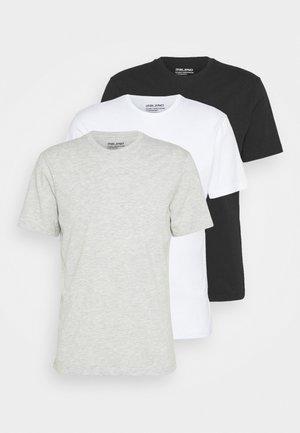 TEE 3 PACK - Basic T-shirt - black/white/grey