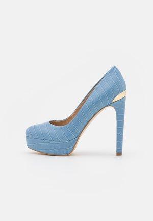 DEARLY - Escarpins à plateforme - blue