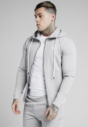 DUAL STRIPE AGILITY ZIP THROUGH HOODIE - Zip-up hoodie - grey/white