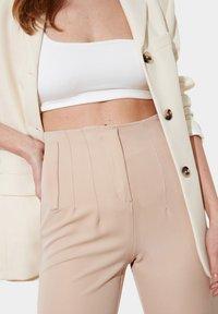 Trendyol - Trousers - beige - 4