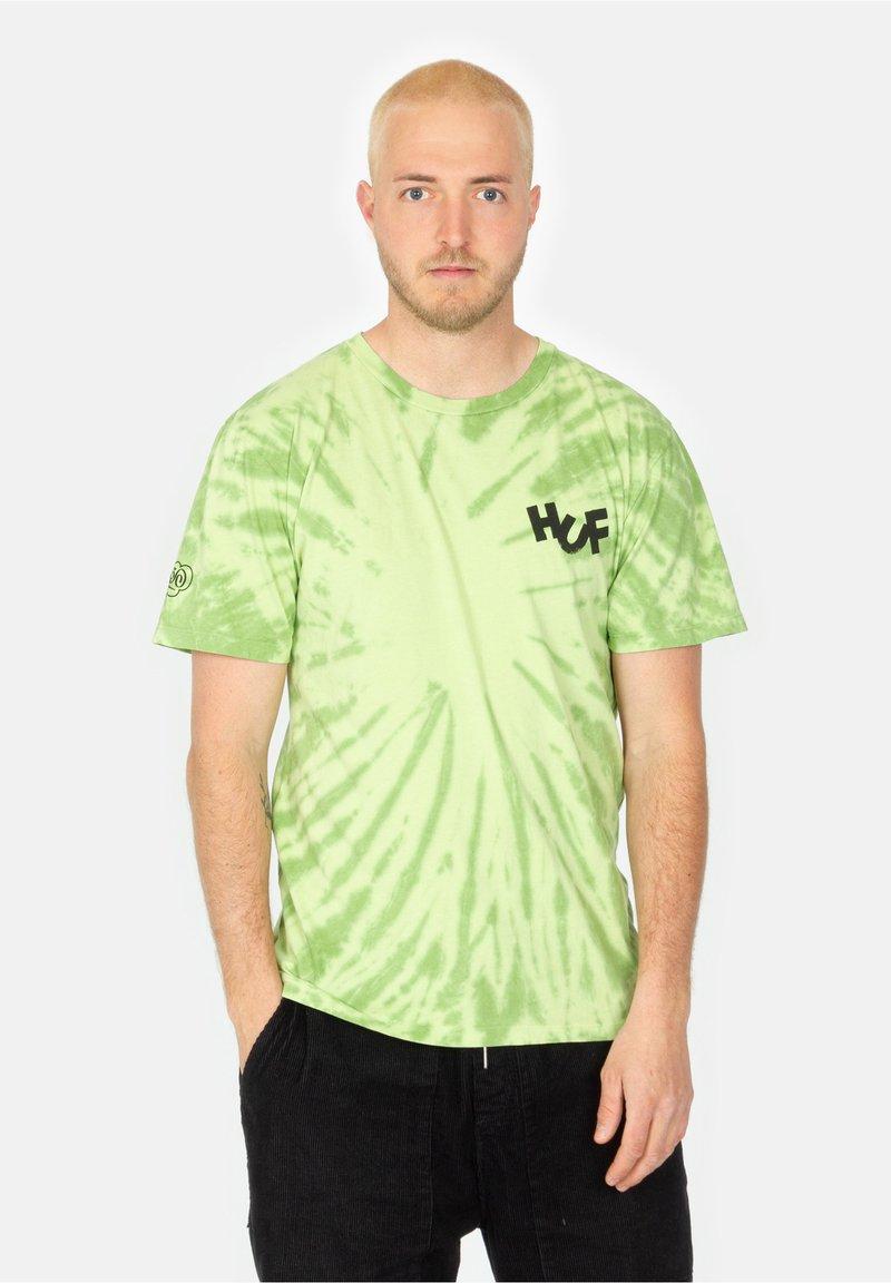 HUF - HAZE BRUSH - Print T-shirt - lime
