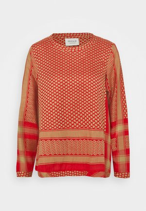 Bluse - camel/red