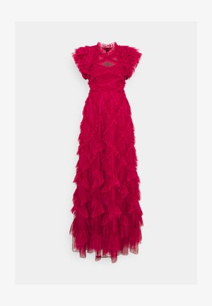 GENEVIEVE RUFFLE GOWN - Robe de cocktail - deep red/fuchsia