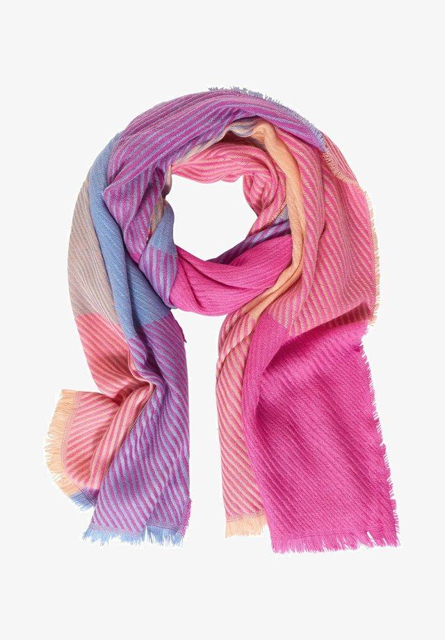 MIT MADRAS-KARO - Scarf - pink