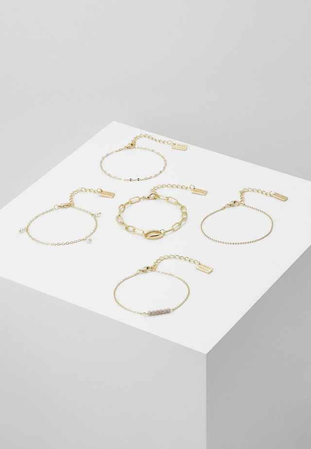 5 PACK - Bracelet - gold-coloured