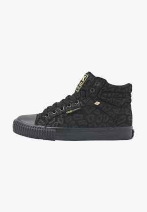 Sneakers hoog - black leopard
