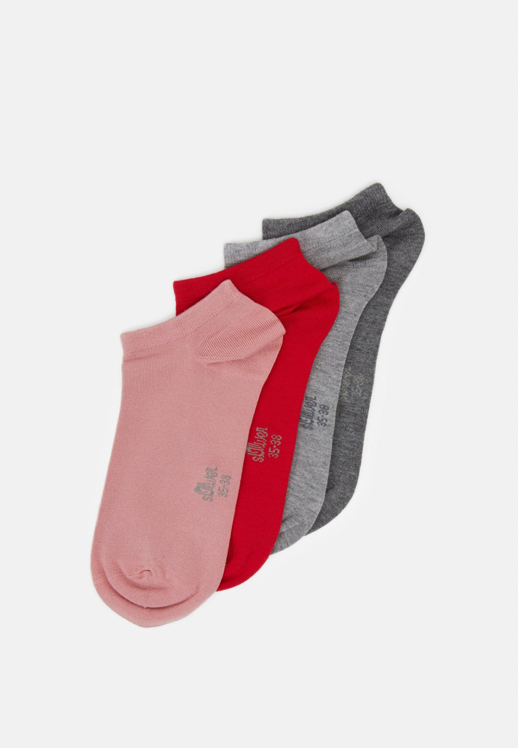 Femme ONLINE WOMEN SILKY TOUCH SNEAKER 5 PACK - Chaussettes