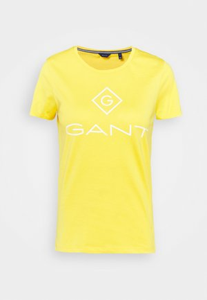 LOCK UP  - Print T-shirt - solar power yellow