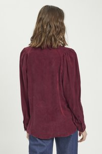 My Essential Wardrobe - Button-down blouse - oxblood red - 2
