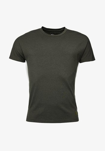 FLEX FEEDER - Print T-shirt - army khaki feeder stripe